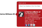 123 Target Marketing Business Card